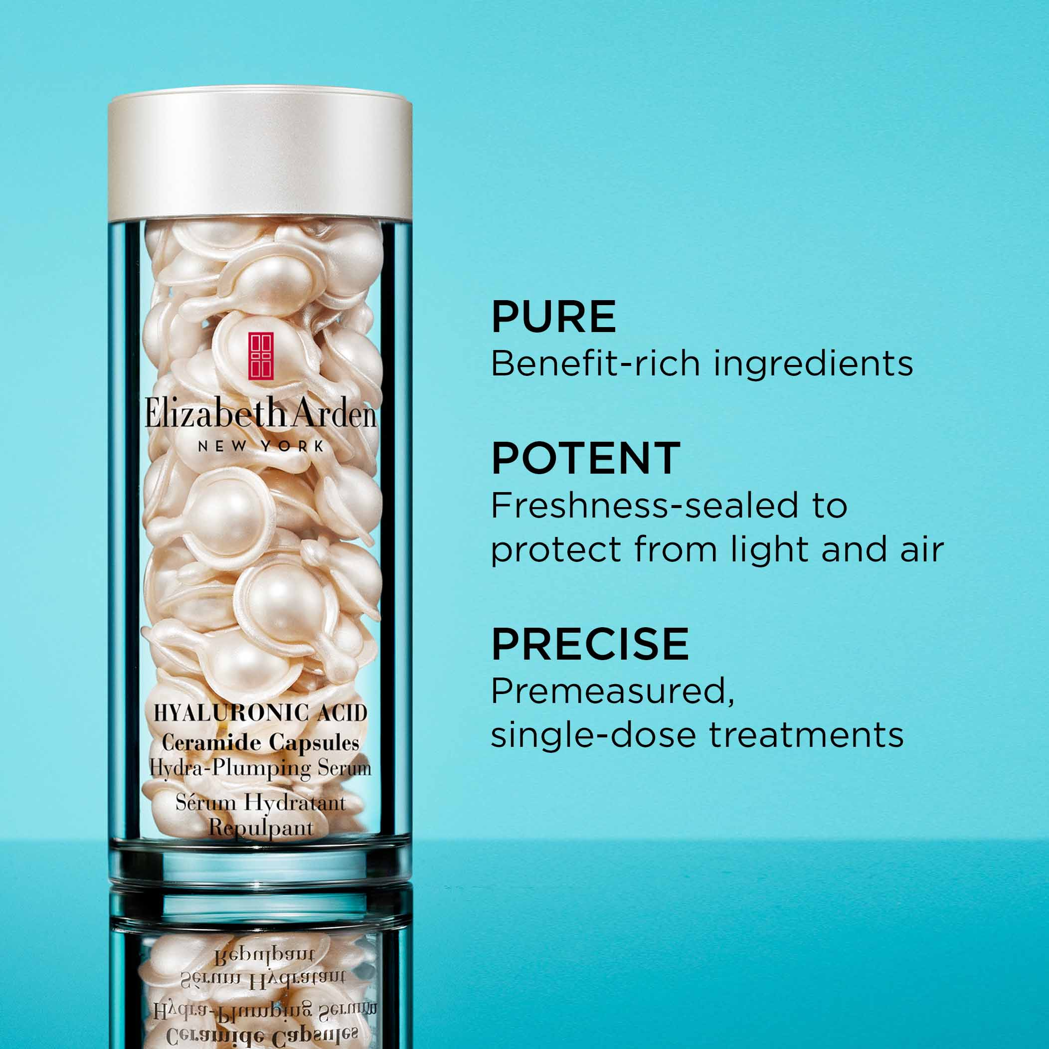 Pure-Benefit-rich ingredients, Potent-Freshness-sealed to protect from light and air, Precise- premeasured, single-dose treatments